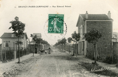 Carte-Postale-Ancienne-Drancy-Paris-Campagne-Rue-Edmond-Stenuit.jpeg